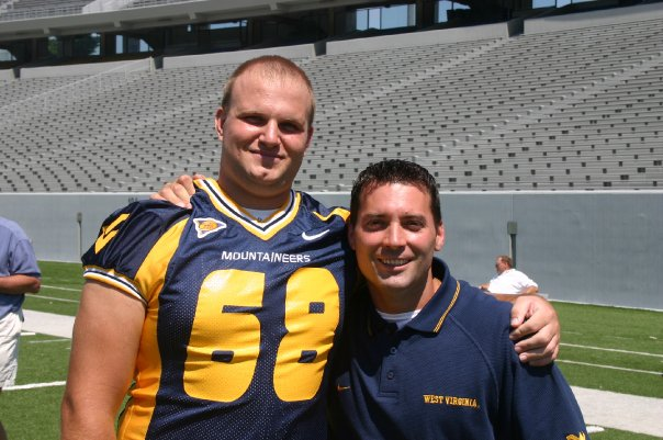 Jeff Berk with his Strength Coach Mike Barwis