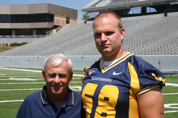 Jeff Berk with OL Coach Rick Trickett