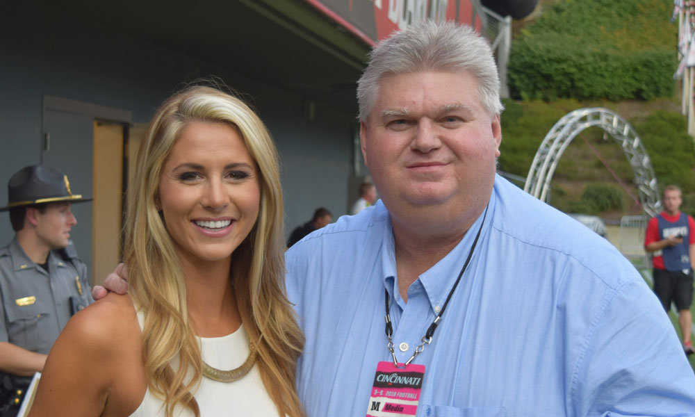 Dave with Laura Rutledge of ESPN - Dave worked with Laura at Scout.com
